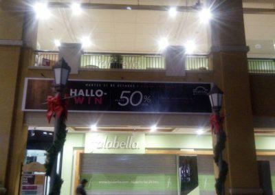 letrero grafica mall